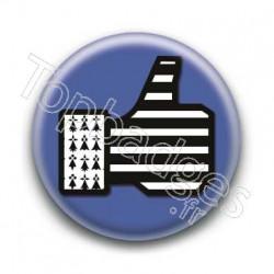 Badge Pouce Bleu Breton