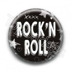 Badge Rock'N Roll Blanc