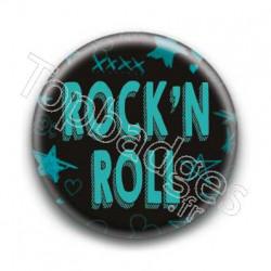 Badge Rock'N Roll Bleu