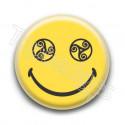 Badge Smiley Triskel Jaune