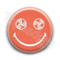 Badge : Smiley triskel orange