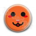 Badge : Smiley chat orange
