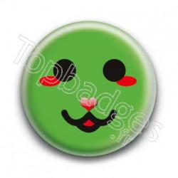 Badge Smiley Chat Vert