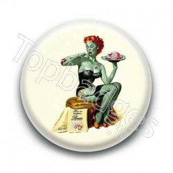 Badge Zombie Pin Up