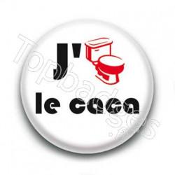 Badge J'aime le caca