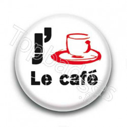 Badge J'aime le café