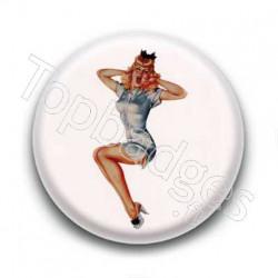 Badge : Pin'up blonde