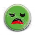 Badge : Smiley ennuyé vert