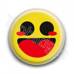 Badge Smiley Heureux Jaune