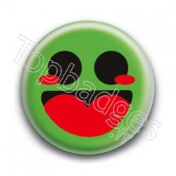 Badge Smiley Heureux Vert