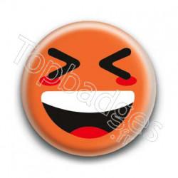 Badge Smiley Mort De Rire Orange