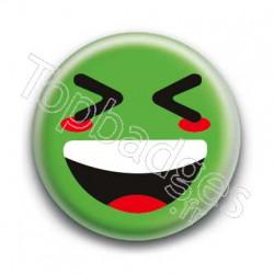 Badge Smiley Mort De Rire Vert
