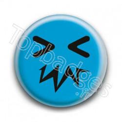Badge Smiley Zinzin Bleu