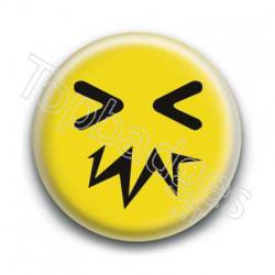 Badge Smiley Zinzin Jaune