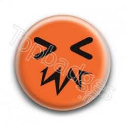 Badge Smiley Zinzin Orange