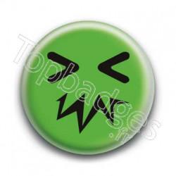 Badge Smiley Zinzin Vert