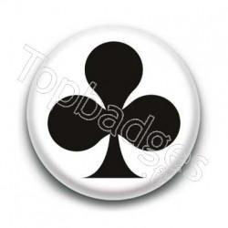 Badge trèfle noir