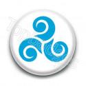 Badge Triskel Bleu