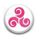 Badge Triskel Rose