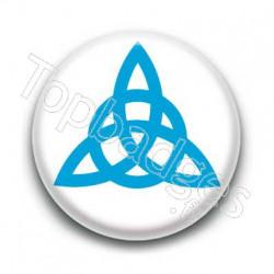Badge Triquetra Bleu