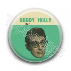 Badge Chanteur Buddy Holly