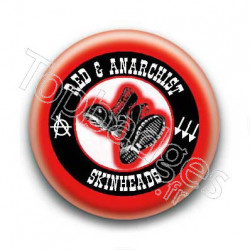 Badge Red & Anarchist Skinheads