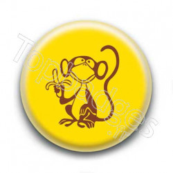 Badge Singe Avec Banane