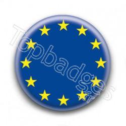 Badge Drapeau Européen