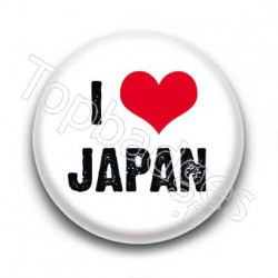Badge : I love Japan