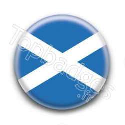 Badge Drapeau Ecosse