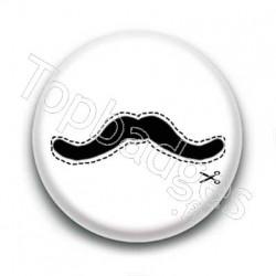 Badge Moustache Pointillés